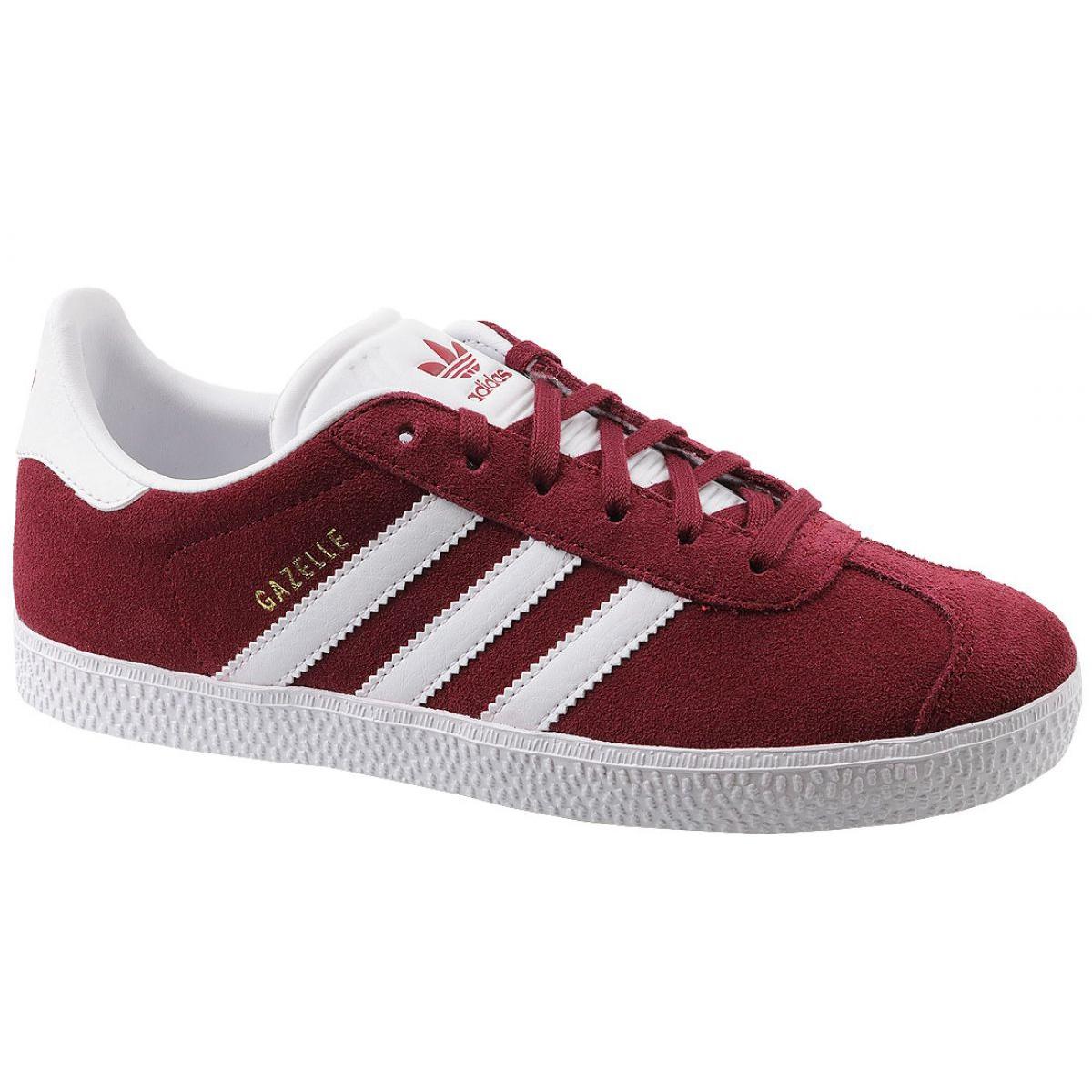Adidas Gazelle Jr CQ2874 red shoes white
