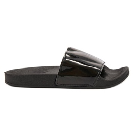 Small Swan Fashionable Black Slippers
