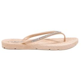 Seastar brown Flip-flops With Zircons