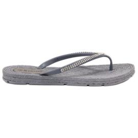 Seastar grey Flip-flops With Zircons