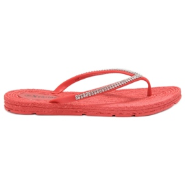 Seastar red Flip-flops With Zircons