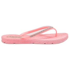 Seastar pink Flip-flops With Zircons