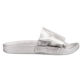 Small Swan grey Casual Women's Slippers