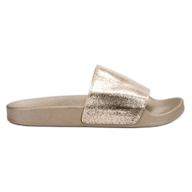 Small Swan yellow Casual Women's Slippers