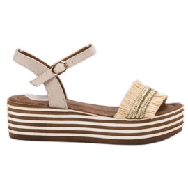 Brown Light beige VICES Sandals
