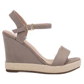 Seastar grey Gray Espadrilles Sandals
