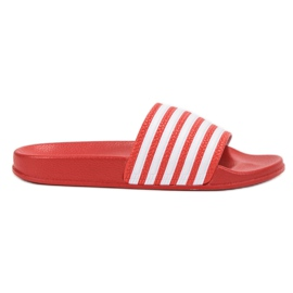 SHELOVET Sports Slippers With Belts red