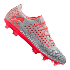 Football boots Puma Future 4.1 Netfit Low Fg / Ag M 105730-01 grey multicolored