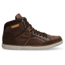XF117 Camel High Sneakers brown