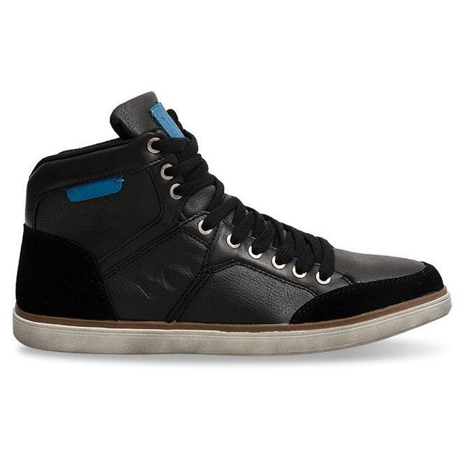 High Sneakers XF117 Black