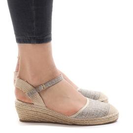 Gray wedge sandals LLI-3M88-7 espadrilles grey
