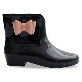 Galoshes Bows With Bow NEW2 Black