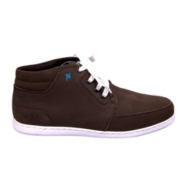 High Leather Sneakers Mid Brown