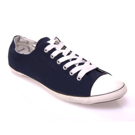 Sneakers With 123 Dark Blue Fabric navy