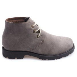 High Casual Shoes Tied 81909 Taupe