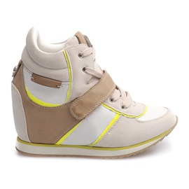 Brown Fashionable Sneakers JT4 Beige