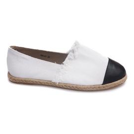 Black Sneakers Espadrilles Linen 760 White