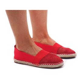 Sneakers Espadrilles, openwork 188-38 Red