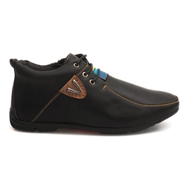 High Warming Shoes Knotted WF622-3 Black