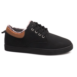 Insulated Sneakers With Fur E655-1 Black