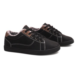 Insulated Sneakers With Fur E754M-1 Black