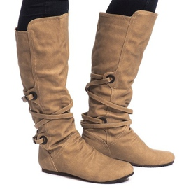 Brown High insulated boots E0362-7 Beige