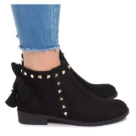 Suede Leather Boots With Slider LL-168 Black