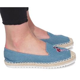 Blue espadrilles Flaming Jeans