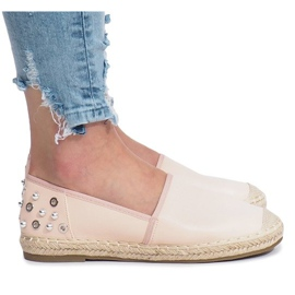 Pink espadrilles with Dolita studs