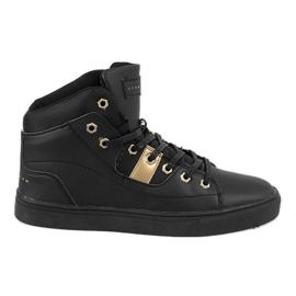 Black high sneakers for men SM1486-001