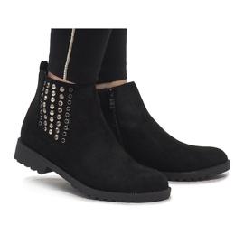 Queen Vivi Black suede boots Jodhpur boots 108-107