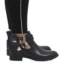 Ideal Shoes Navy blue open booties Y8157