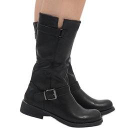 Sixth Sens Black elegant boots JW19