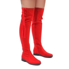 Foreverfolie Red suede warm boots H308