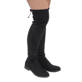 Erynn Black suede boots A26