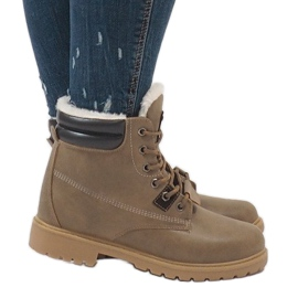 Green Khaki warmed trappers D494C-9