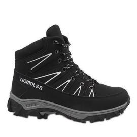 Black insulated snow boots F-23-1