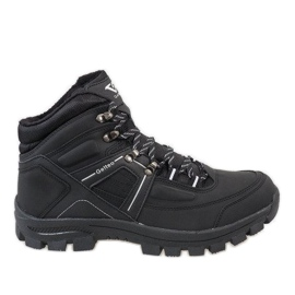 Black insulated T-1866 snow boots