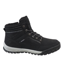 Black insulated snow boots T-1853