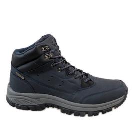 Navy Dark blue insulated T-1860 snow boots