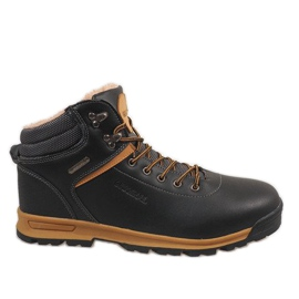 Black insulated snow boots M17097-2