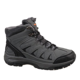 Grey Gray insulated snow boots M8240-2