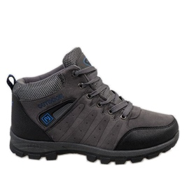 Grey Gray insulated snow boots KFT001