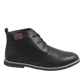 Black insulated men's shoes 989-1