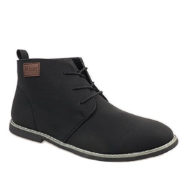 Black insulated men's shoes 989-2