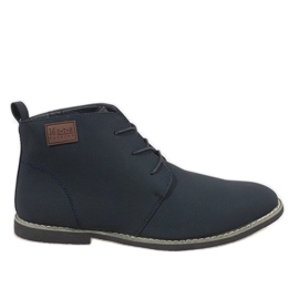 Navy blue insulated men's shoes 989-3