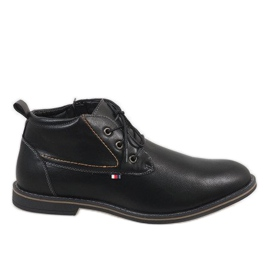 Black insulated men's shoes 9W-BK86417
