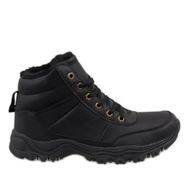 Black insulated snow boots GT-9578