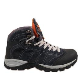 Navy blue men's shoes 7264