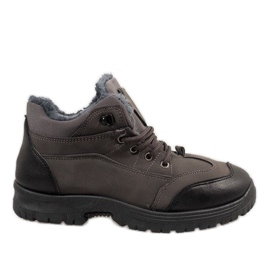 Grey Gray insulated snow boots 7M800C